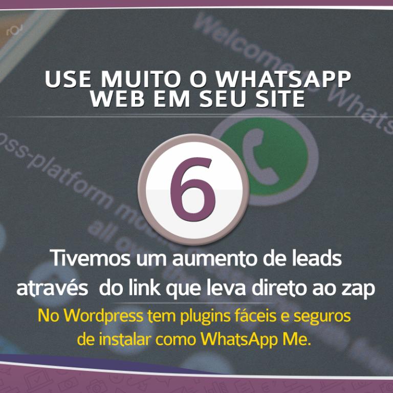 Use o WhatsApp web para aumentar o números de leads em seu site